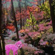 Pink Poodle Paradise Art Print