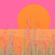 Pink Prairie Flowers Art Print