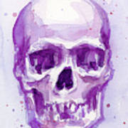 Pink Purple Skull Art Print