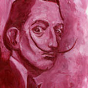Pink Rhinoceros  Art Print
