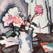 Pink Roses Art Print by Samuel John Peploe