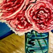 Pink Ruffled Peonies Art Print