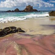 Pink Sand Beach In Big Sur Art Print