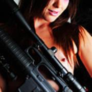 Pink Sniper Art Print