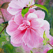Pink Swirl Garden Art Print by Shelley Irish