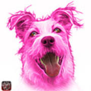Pink Terrier Mix 2989 - Wb Art Print