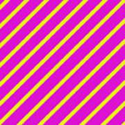 Pink Yellow Angled Stripes Art Print