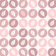 Pinkish Leaves Art Print