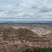 Pinnacles Overlook Panorama  Art Print