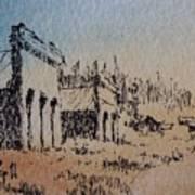Pioneer Ghost Town Montana Art Print