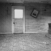 Pioneer Home Interior - Nevada City Ghost Town Montana Art Print