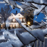 Pioneer Inn At Christmas Time Art Print