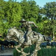 Pioneer Plaza Cattle Drive Monument Dallas Art Print