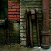Pipe  Bricks Art Print