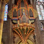 Pipe Organ In Strasbourg Cathedral Art Print