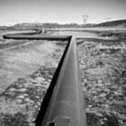 pipeline carrying hot water to reykjavik from Hellisheidi geothermal combined heat and power station Art Print
