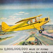 Piper Airplane  Art Print
