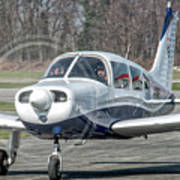 Piper Pa28 I-cnpg Taxiing To The Runway Art Print