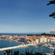 Piran Slovenia Gulf Of Trieste On The Adriatic Sea From The Punt Art Print
