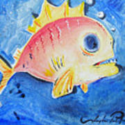 Piranha Art Art Print by Joseph Palotas