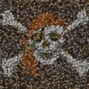 Pirate Coins Mosaic Art Print