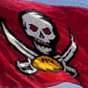 Pirate Football Art Print