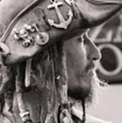 Pirate Profile Art Print