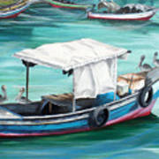 Pirogue Fishing Boat  Art Print