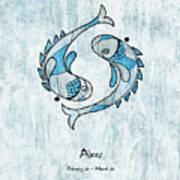 Pisces Artwork Art Print