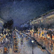 Pissarro: Paris At Night Art Print