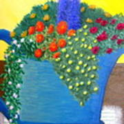 Pitcher Of Flowers Art Print