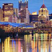 Pittsburgh 2 Print by Emmanuel Panagiotakis