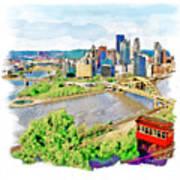 Pittsburgh Aerial View Art Print