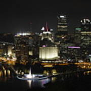 Pittsburgh At Night Art Print