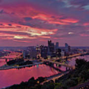 Pittsburgh Dawn Art Print by Jennifer Grover