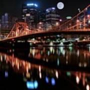 Pittsburgh Full Moon Art Print