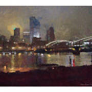 Pittsburgh Night Art Print