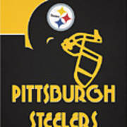 Pittsburgh Steelers Team Vintage Art Art Print