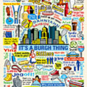Pittsburghese Art Print by Ron Magnes