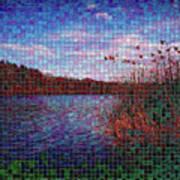 Pixel Lake Art Print