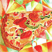Pizza Pizza Art Print by Paula Ayers