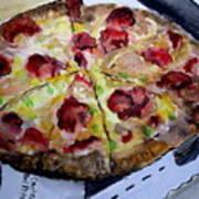 Pizzas Here Art Print