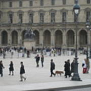 Place Du Carrousel At The Louvre Art Print