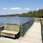 Place For Fishing Or Just Sitting At Round Island In Florida  Art Print