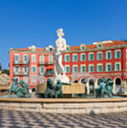 Place Massena Of Nice In France Art Print