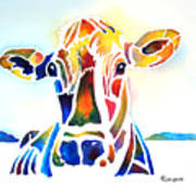 Placid The Cow Art Print