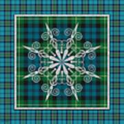 Plaid Snowflakes-jp3704 Art Print