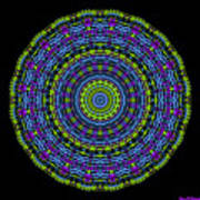 Plaid Wheel Mandala Art Print