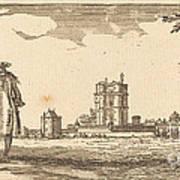 Plan General Du Chasteau Et Petit Parc De Vincennes Art Print