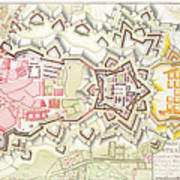 Plan Of Part Of The City And Citadel Of Strasbourg Art Print